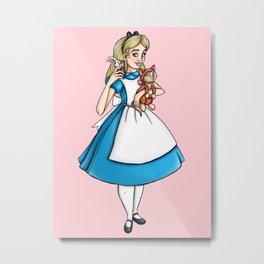 Selfie Alice in Wonderland Metal Print