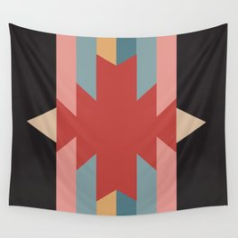 Red Star - Style Me Stripes Wall Tapestry