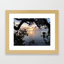 Sunset Key Largo Framed Art Print