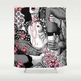 Mad Love Paradiso_Pastel Shower Curtain