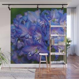 Sky blue Delphinium Flowers Wall Mural