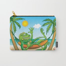 Lazy Iguana Summer on the Beach Carry-All Pouch