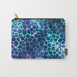 Cute Glittery Cheetah Pattern Carry-All Pouch