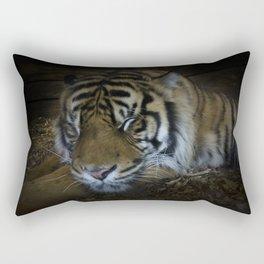 Sleeping tiger painterly Rectangular Pillow