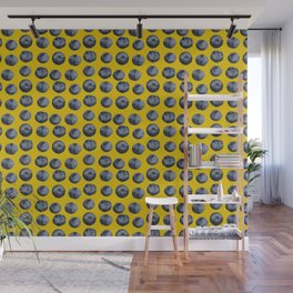 Blueberry pattern Wall Mural