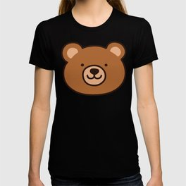 Brown Happy Bear Front Face T-shirt