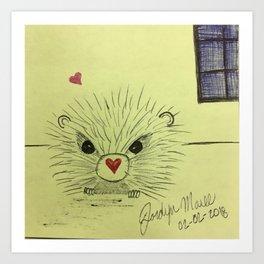 Pokey Hearts Art Print