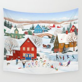Snow Family Wall Tapestry