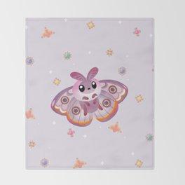 Marbled Emperor Moth Throw Blanket