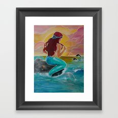 Tropical Tails Framed Art Print