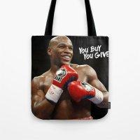 floyd Tote Bags featuring Floyd #1 by YBYG