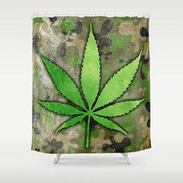 Weed Leaf Shower Curtain