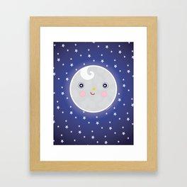 Happy Moon Man Framed Art Print