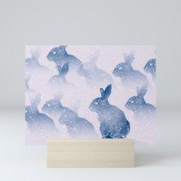 Snow bunny Mini Art Print
