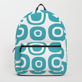 Mid Century Modern Garden Path Pattern 365 Turquoise Backpack
