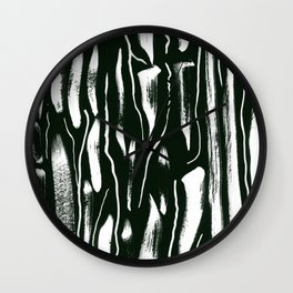 Black and White Paint Pattern Wall Clock
