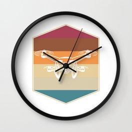 Retro Drone Wall Clock
