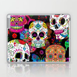 Rocking Color Sugar Skull Day Of The Dead Laptop & iPad Skin