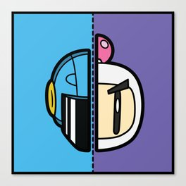 Old & New Bomber Man Canvas Print