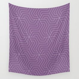 Pomp and Power - violet - Modern Vector Seamless Pattern Wall Tapestry