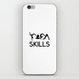 yoga skills iPhone Skin