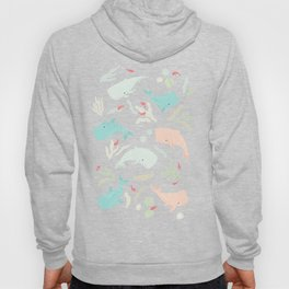 Pastel Whale Pattern Hoody