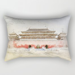 The forbidden City, Beijing Rectangular Pillow