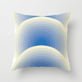 005 -  Blue rainbow Throw Pillow
