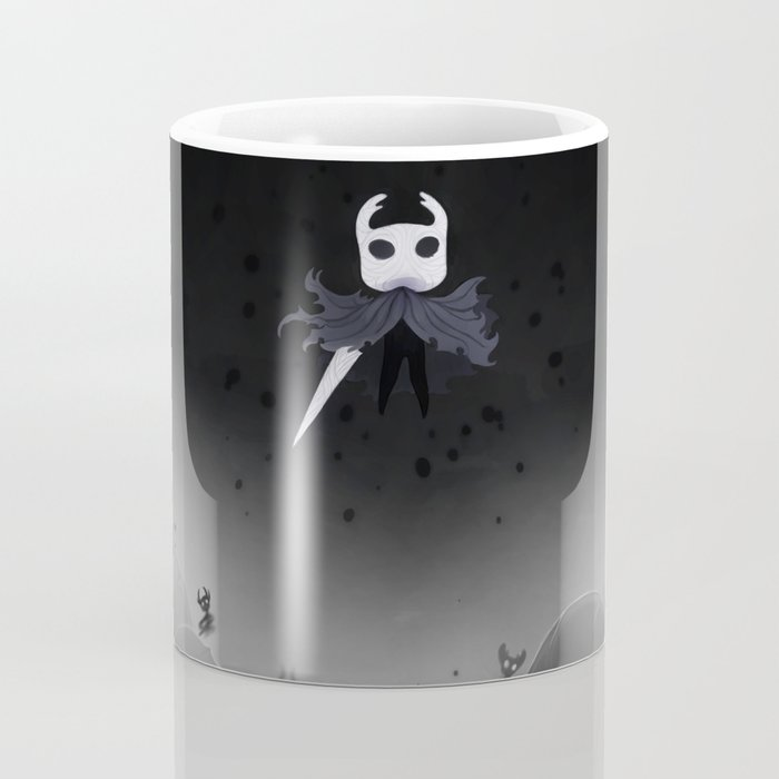 Black Octopus in the Abyss White Mug