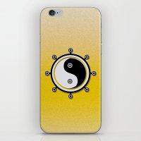 yin yang iPhone & iPod Skins featuring Yin yang by Nir P