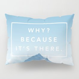 Why? Because it's there. Pillow Sham