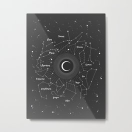 Constellations Map Metal Print