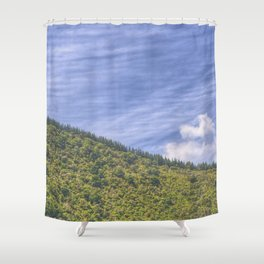 Wavy Mountains Shower Curtain