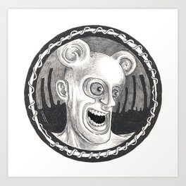 Rev. Splonk going insane Art Print