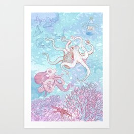 salvemos los océanos Art Print