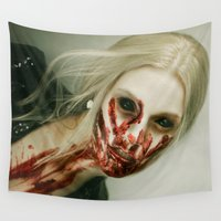 zombie Wall Tapestries featuring ZOMBIE by Miklos