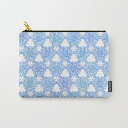 Winter Thistle in Blue Carry-All Pouch