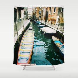 Venice. Italy. Analog. Film. Photography. Shower Curtain