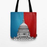 politics Tote Bags featuring American Politics by politics