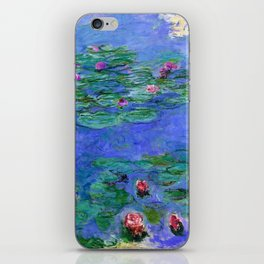 Claude Monet Red Water Lilies iPhone Skin