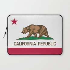 California Republic Flag, High Quality Image Laptop Sleeve