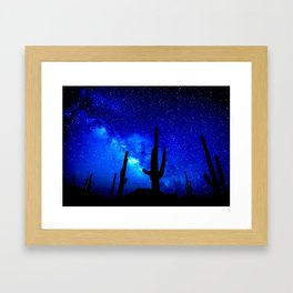 The Milky Way Blue Framed Art Print