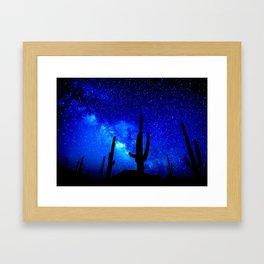 The Milky Way Blue Framed Art Print