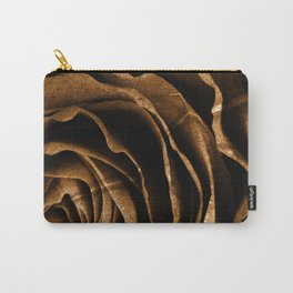 Sepia Grunge Rose Carry-All Pouch