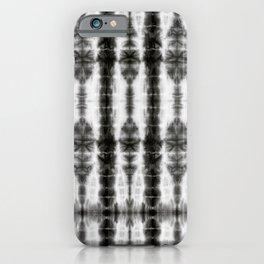 Black and White Tiki Shibori iPhone Case