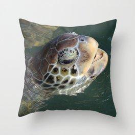 Sea Turtle - Grand Cayman Throw Pillow