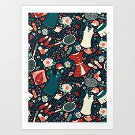 Tennis Style Art Print