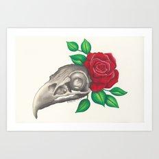 Vulture Skull Art Print