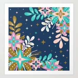 Floral Pop One Art Print