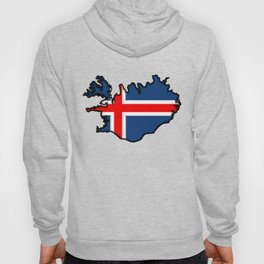 Iceland Map with Icelandic Flag Hoody